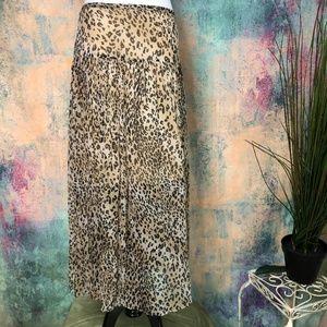 💥 Valerie Stevens animal print Silk Skirt